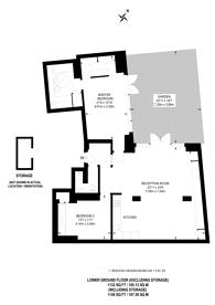 Large floorplan for New North Street, Bloomsbury, WC1N