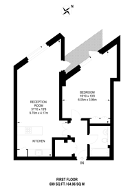 Large floorplan for Leeke Street, Clerkenwell, WC1X