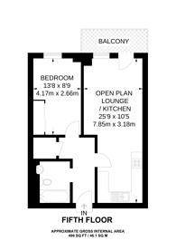 Large floorplan for Jubilee Court, Greenwich, SE10