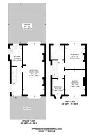 Large floorplan for Norval Road, Wembley, HA0