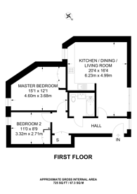 Large floorplan for The Atelier, Kensington, W14