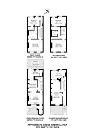 Large floorplan for Lamont Road, Chelsea, SW10
