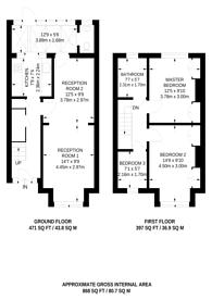 Large floorplan for Fernlea Road, CR4, Mitcham, CR4