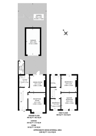 Large floorplan for Silverleigh Road, CR7, Mitcham, CR7