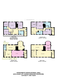 Large floorplan for Cowley Street, Westminster, SW1P