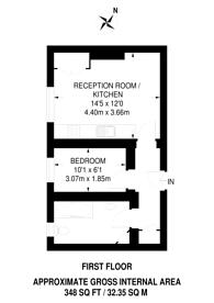 Large floorplan for Sussex Gardens, Westminster, W2