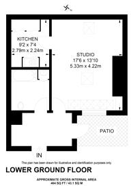 Large floorplan for Gloucester Place, Marylebone, W1U