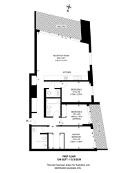 Large floorplan for 10 Park Drive, Canary Wharf, E14