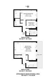 Large floorplan for Adriatic Apartments, Royal Docks, E16
