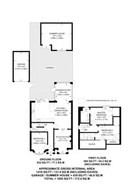 Large floorplan for Longfield Avenue, Mill Hill, NW7
