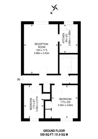 Large floorplan for Osterley Park View Road, W7, Hanwell, W7