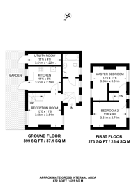 Large floorplan for Killyon Road, Clapham Old Town, SW8