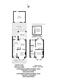 Large floorplan for Rydal Crescent, Perivale, UB6