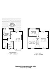 Large floorplan for Bamford Avenue, Alperton, HA0