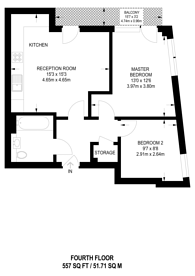 Large floorplan for Westwood House, Canary Wharf, E14