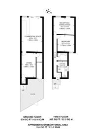 Large floorplan for St Johns Avenue, Harlesden, NW10
