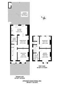 Large floorplan for Petts Hill, Northolt, UB5