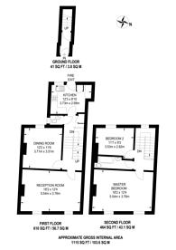Large floorplan for High Road, North Finchley, N12