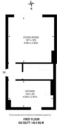 Large floorplan for Offord Road, Islington, N1