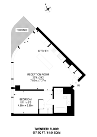 Large floorplan for Canaletto Tower, City, EC1V