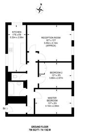 Large floorplan for Grafton House, Wellington Way, Bow, E3