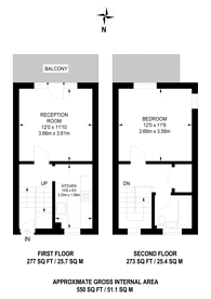 Large floorplan for Warltersville Road, Crouch End, N19