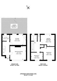Large floorplan for Foxborough Gardens, Ladywell, SE4