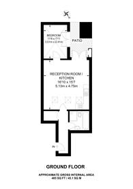 Large floorplan for Battersea High Street, Battersea, SW11