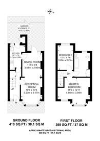 Large floorplan for Wellington Road, Forest Gate, E7