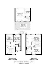 Large floorplan for Ainsworth Way, St John's Wood, NW8