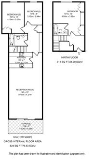 Large floorplan for Point West, South Kensington, SW7