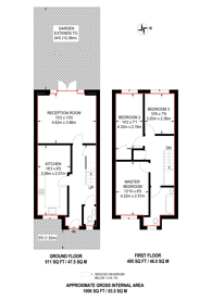 Large floorplan for Hazel Way, Chingford, E4
