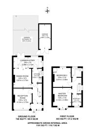 Large floorplan for Norwood Park Road, West Norwood, SE27