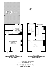 Large floorplan for Garratt Lane, Tooting, SW17