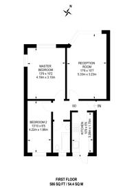 Large floorplan for Teesdale Court, Isleworth, TW7