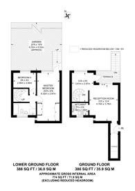 Large floorplan for Harcourt Terrace, Chelsea, SW10