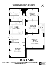 Large floorplan for Russell House, Pimlico, SW1V