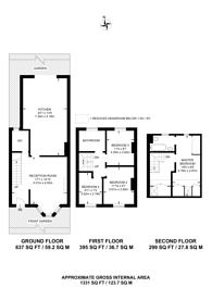 Large floorplan for Glenfarg Road, Hither Green, SE6