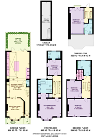 Large floorplan for Gascony Avenue, NW6, West Hampstead, NW6