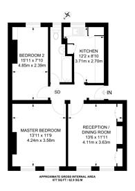 Large floorplan for Middleton House, Westminster, SW1P