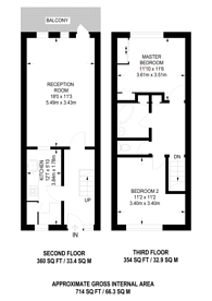 Large floorplan for Thornfield House, Canary Wharf, E14