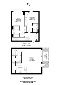 Large floorplan for Farm Lane, Fulham, SW6