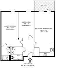 Large floorplan for Mercury House, Canning Town, E16