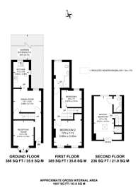 Large floorplan for Old Town, Central Croydon, CR0