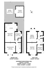 Large floorplan for Georgian Court, Wembley, HA9