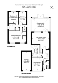 Large floorplan for Brittens Close, Guildford, GU2