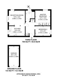 Large floorplan for Adams Close, Surbiton, KT5