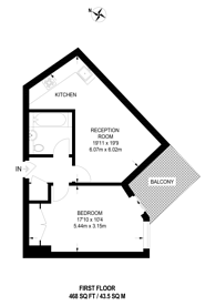 Large floorplan for Greyhound Hill, Hendon, NW4