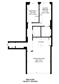 Large floorplan for Shepherdess Walk, Islington, N1