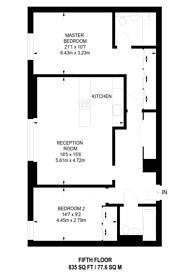 Large floorplan for Poole Street, Islington, N1